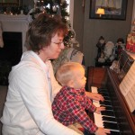 Grandma & Kevin at the piano